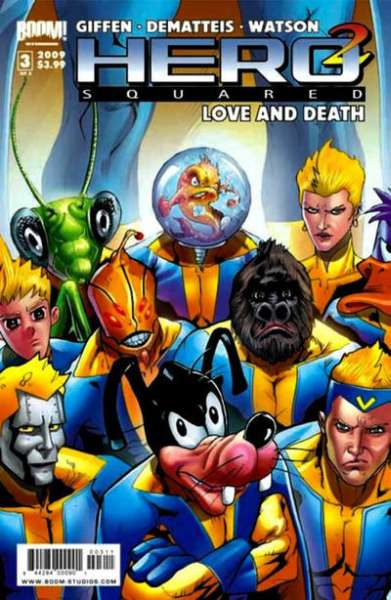 Hero Squared: Love and Death #3 comic books for sale