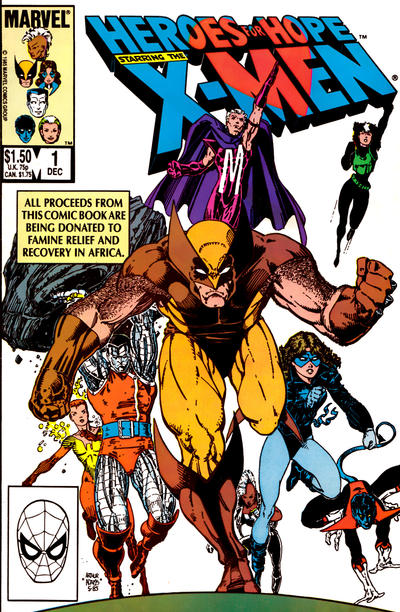 Heroes for Hope Starring the X-Men #1 comic books - cover scans photos Heroes for Hope Starring the X-Men #1 comic books - covers, picture gallery