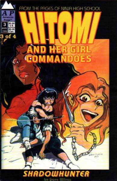 Hitomi and her Girl Commandos #3 comic books - cover scans photos Hitomi and her Girl Commandos #3 comic books - covers, picture gallery