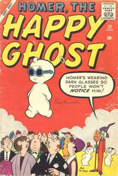 Homer The Happy Ghost #22 comic books - cover scans photos Homer The Happy Ghost #22 comic books - covers, picture gallery