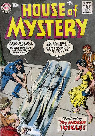 House of Mystery #73 Comic Books - Covers, Scans, Photos  in House of Mystery Comic Books - Covers, Scans, Gallery