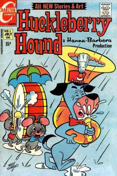 Huckleberry Hound #5 comic books - cover scans photos Huckleberry Hound #5 comic books - covers, picture gallery