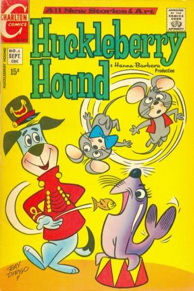 Huckleberry Hound #6 comic books - cover scans photos Huckleberry Hound #6 comic books - covers, picture gallery