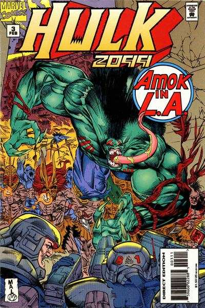 Hulk 2099 #3 comic books - cover scans photos Hulk 2099 #3 comic books - covers, picture gallery