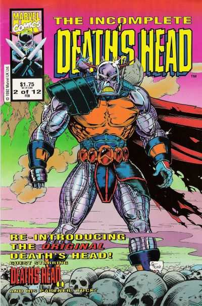 Incomplete Death's Head #2 comic books - cover scans photos Incomplete Death's Head #2 comic books - covers, picture gallery