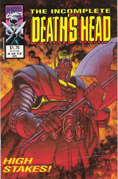 Incomplete Death's Head #4 comic books for sale
