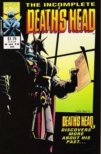 Incomplete Death's Head #6 comic books - cover scans photos Incomplete Death's Head #6 comic books - covers, picture gallery