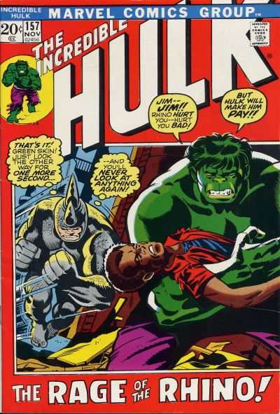 Incredible Hulk #157 comic books for sale