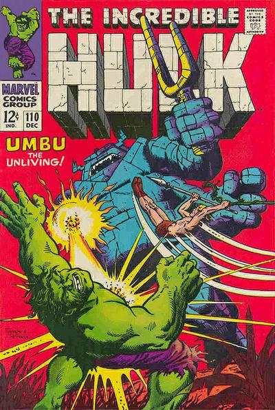 Incredible Hulk #110 comic books - cover scans photos Incredible Hulk #110 comic books - covers, picture gallery
