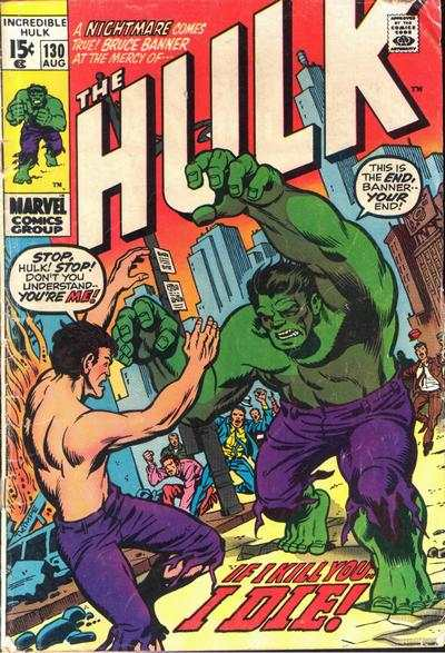 Incredible Hulk #130 comic books - cover scans photos Incredible Hulk #130 comic books - covers, picture gallery