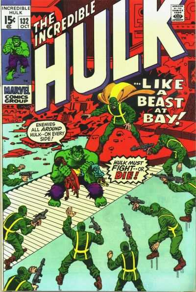 Incredible Hulk #132 comic books - cover scans photos Incredible Hulk #132 comic books - covers, picture gallery