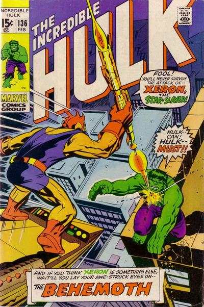 Incredible Hulk #136 Comic Books - Covers, Scans, Photos  in Incredible Hulk Comic Books - Covers, Scans, Gallery