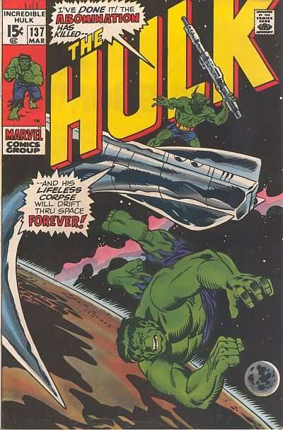 Incredible Hulk #137 comic books for sale
