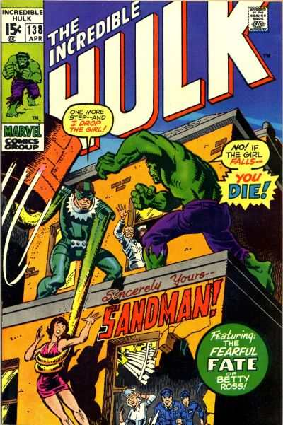 Incredible Hulk #138 comic books for sale