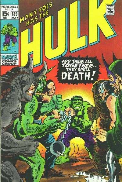 Incredible Hulk #139 comic books - cover scans photos Incredible Hulk #139 comic books - covers, picture gallery