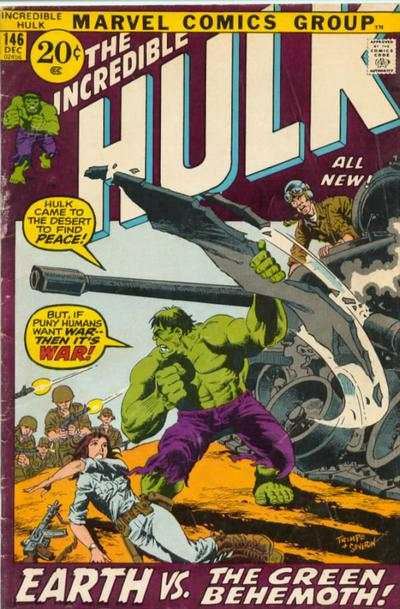 Incredible Hulk #146 comic books - cover scans photos Incredible Hulk #146 comic books - covers, picture gallery