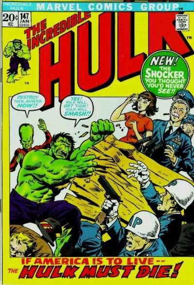 Incredible Hulk #147 comic books for sale
