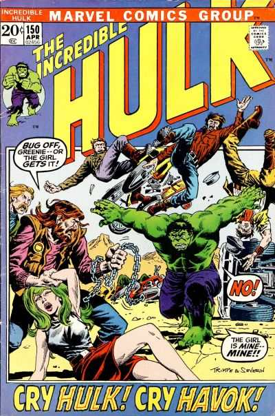 Incredible Hulk #150 comic books - cover scans photos Incredible Hulk #150 comic books - covers, picture gallery