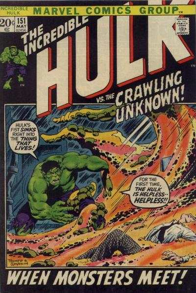 Incredible Hulk #151 comic books - cover scans photos Incredible Hulk #151 comic books - covers, picture gallery