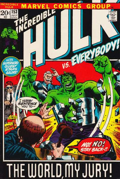 Incredible Hulk #153 cheap bargain discounted comic books Incredible Hulk #153 comic books