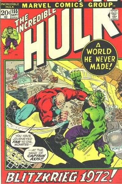 Incredible Hulk #155 comic books - cover scans photos Incredible Hulk #155 comic books - covers, picture gallery