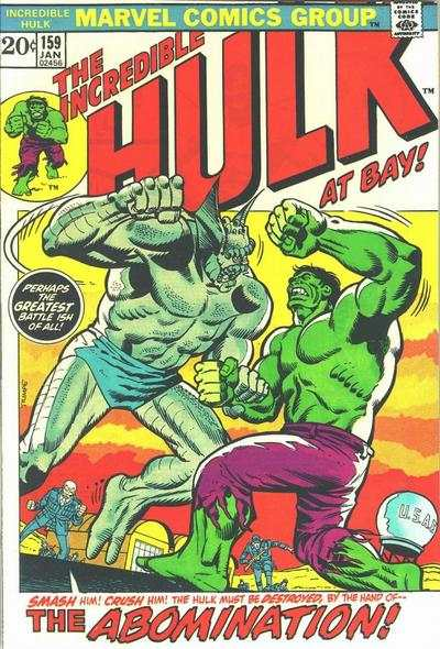 Incredible Hulk #159 comic books - cover scans photos Incredible Hulk #159 comic books - covers, picture gallery