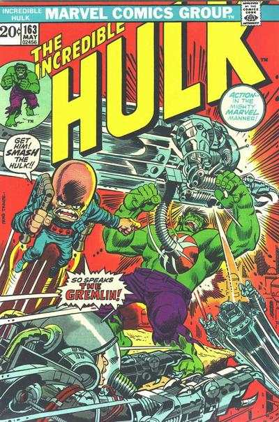 Incredible Hulk #163 comic books - cover scans photos Incredible Hulk #163 comic books - covers, picture gallery