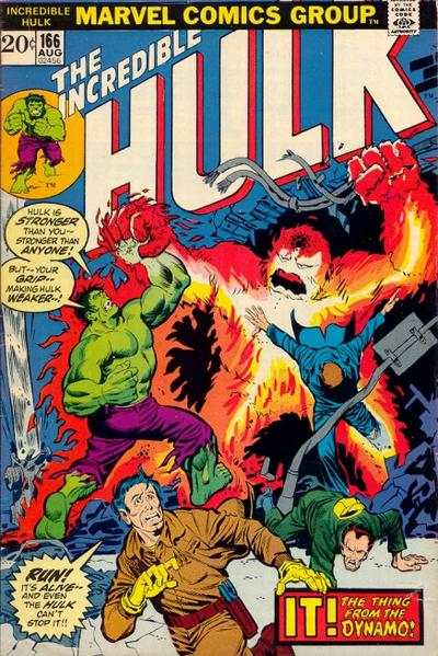 Incredible Hulk #166 comic books - cover scans photos Incredible Hulk #166 comic books - covers, picture gallery