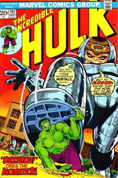 Incredible Hulk #167 comic books - cover scans photos Incredible Hulk #167 comic books - covers, picture gallery