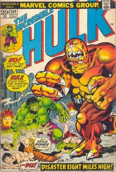 Incredible Hulk #169 comic books for sale