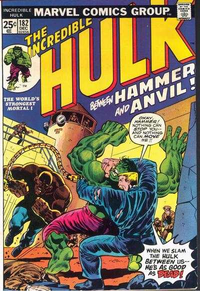 Incredible Hulk #182 comic books for sale