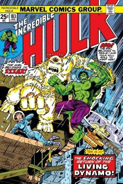 Incredible Hulk #183 comic books - cover scans photos Incredible Hulk #183 comic books - covers, picture gallery