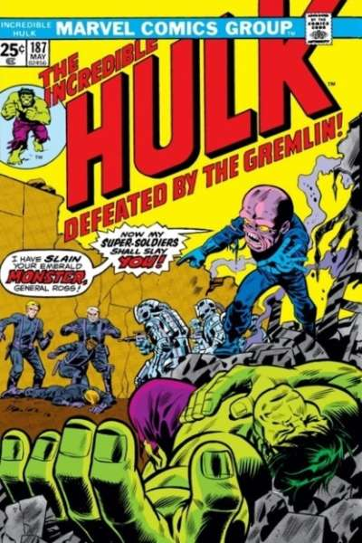 Incredible Hulk #187 comic books - cover scans photos Incredible Hulk #187 comic books - covers, picture gallery