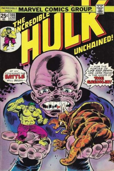 Incredible Hulk #188 comic books for sale