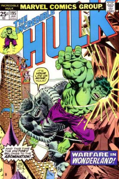 Incredible Hulk #195 comic books - cover scans photos Incredible Hulk #195 comic books - covers, picture gallery