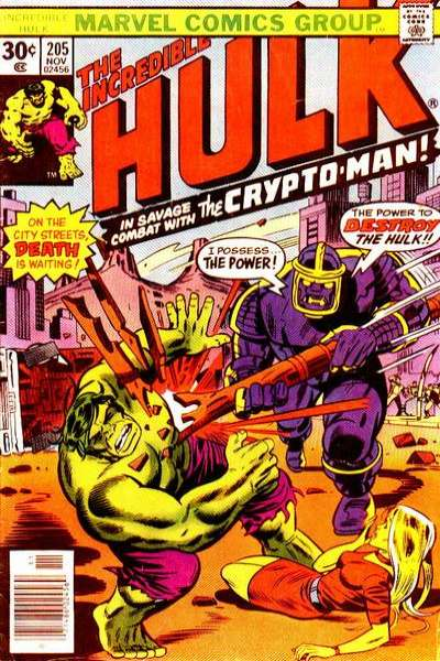 Incredible Hulk #205 comic books for sale