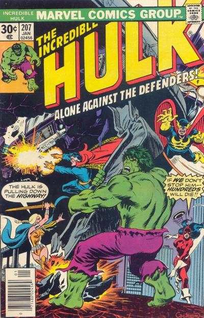 Incredible Hulk #207 comic books - cover scans photos Incredible Hulk #207 comic books - covers, picture gallery