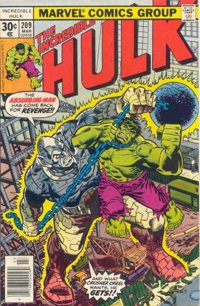 Incredible Hulk #209 comic books for sale