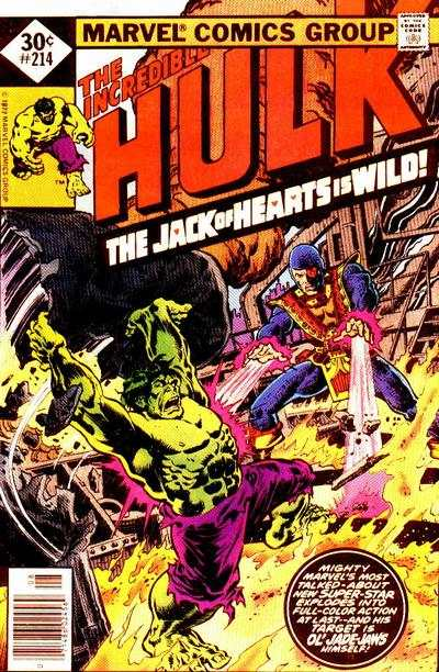 Incredible Hulk #214 comic books for sale