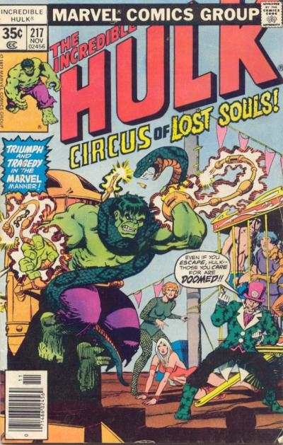 Incredible Hulk #217 comic books for sale