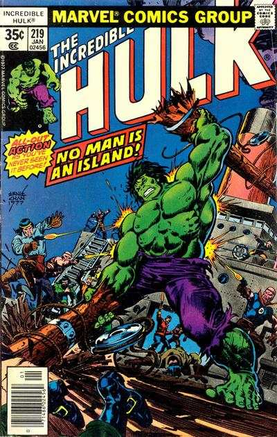 Incredible Hulk #219 cheap bargain discounted comic books Incredible Hulk #219 comic books
