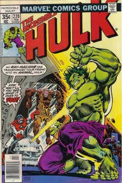 Incredible Hulk #220 comic books - cover scans photos Incredible Hulk #220 comic books - covers, picture gallery