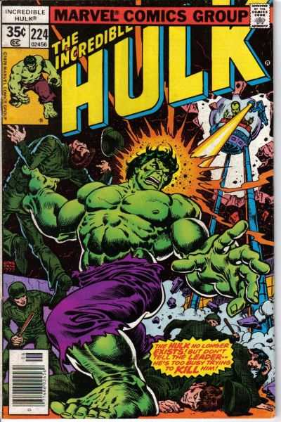 Incredible Hulk #224 comic books - cover scans photos Incredible Hulk #224 comic books - covers, picture gallery