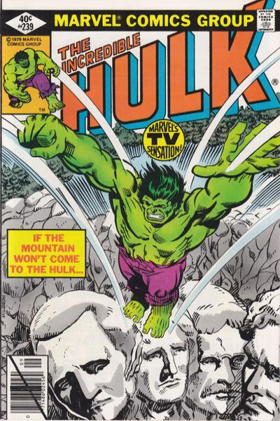 Incredible Hulk #239 comic books for sale