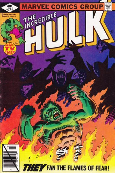Incredible Hulk #240 comic books for sale