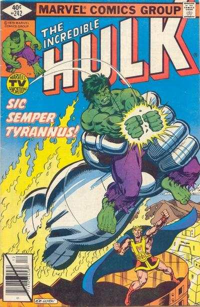 Incredible Hulk #242 comic books - cover scans photos Incredible Hulk #242 comic books - covers, picture gallery