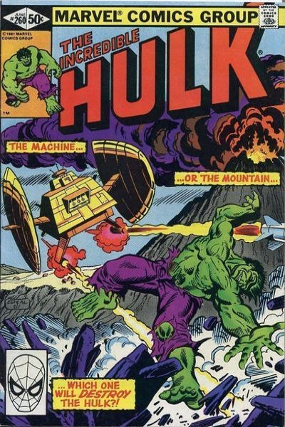 Incredible Hulk #260 comic books - cover scans photos Incredible Hulk #260 comic books - covers, picture gallery