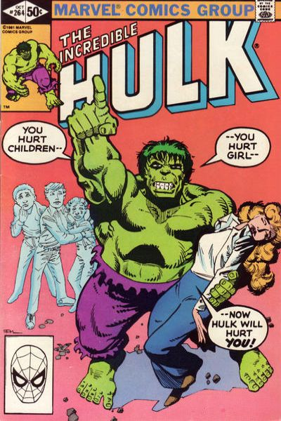 Incredible Hulk #264 comic books for sale