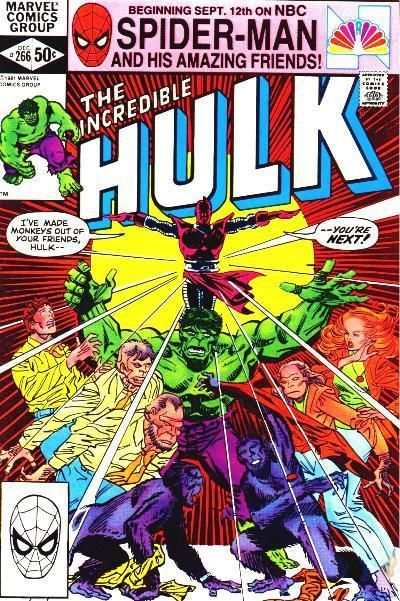 Incredible Hulk #266 comic books for sale