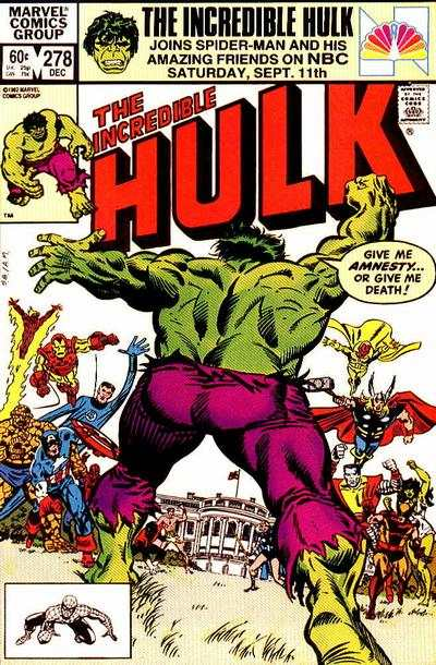 Incredible Hulk #278 comic books for sale